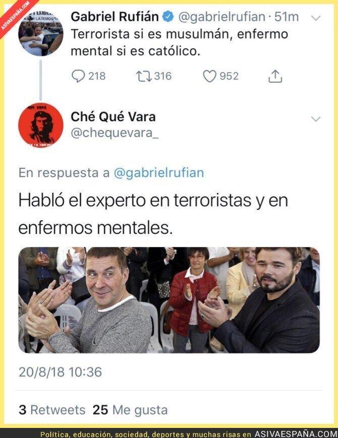 91474 - El ZAS diario a Gabriel Rufián hablando de enfermos mentales