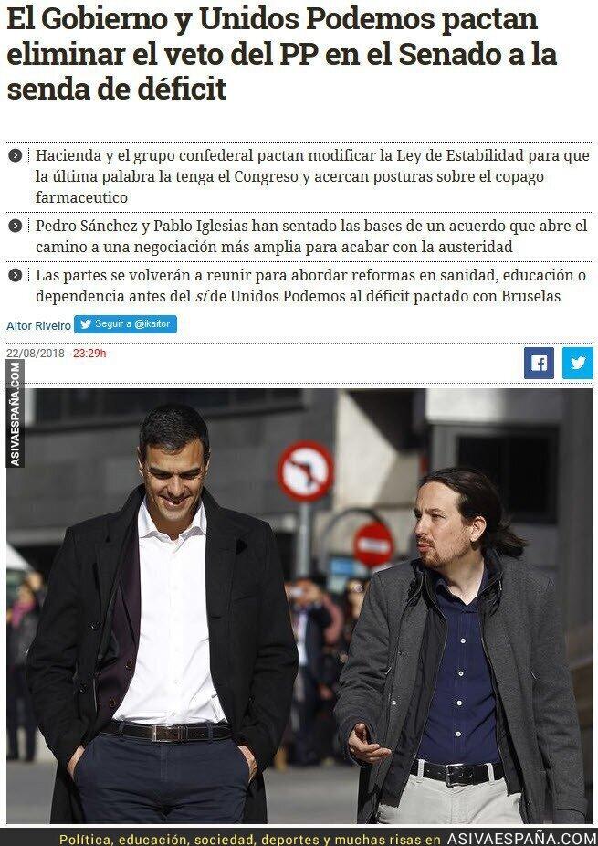 91616 - Por fin el PSOE se digna a negociar con Unidos Podemos y no seguir con las mamandurrias de pactar con C´s y PP para seguir ninguneando a la izquierda