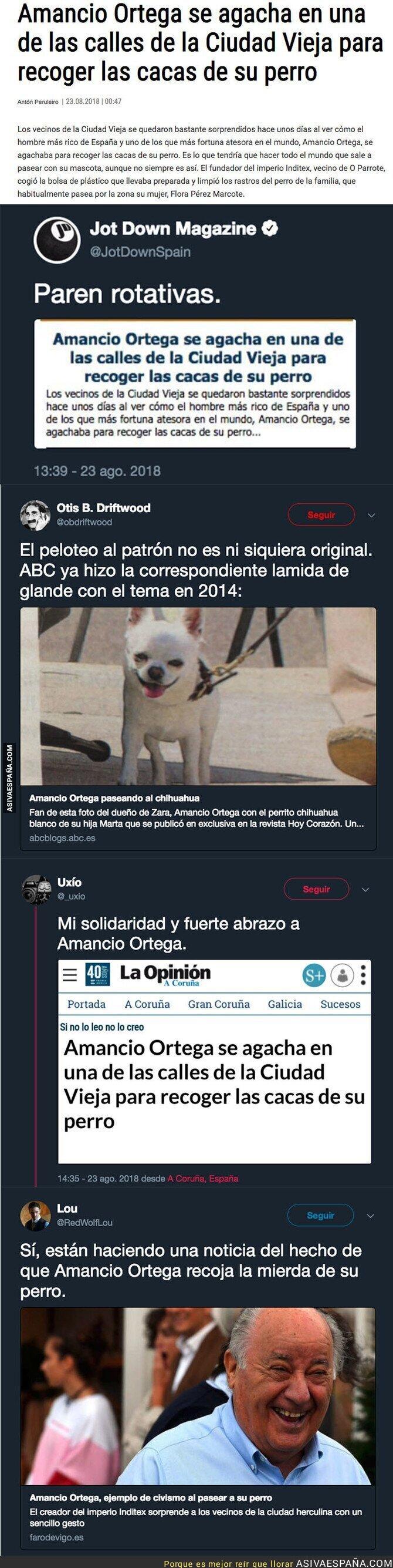 91638 - La surrealista noticia de Amancio Ortega y su perro por la que todo Twitter se está riendo