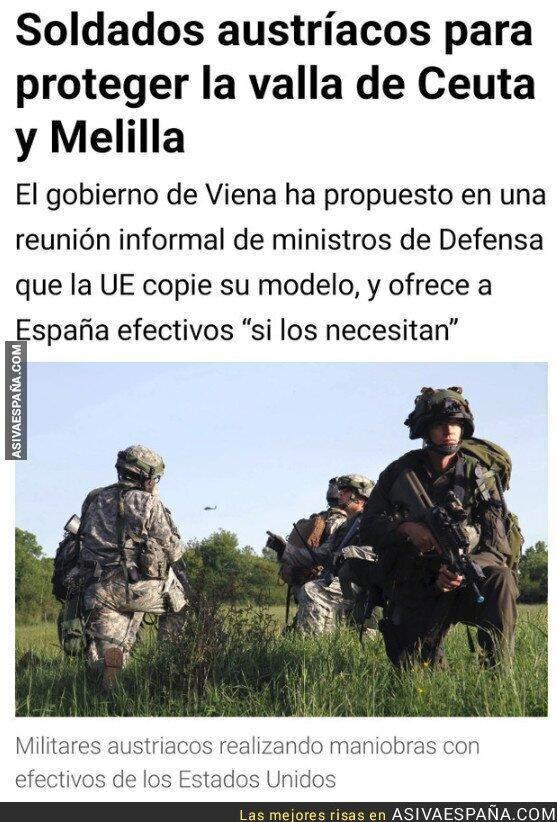 92144 - Por fin alguien se ofrece a controlar el desmadre de Ceuta  y Melilla, y no es precisamente nuestro ineficiente gobierno