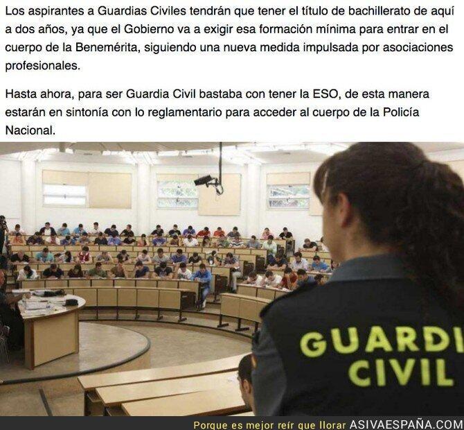 92277 - Para ser Guardia Civil tendrás que tener el bachillerato (y no solo la ESO como hasta ahora)