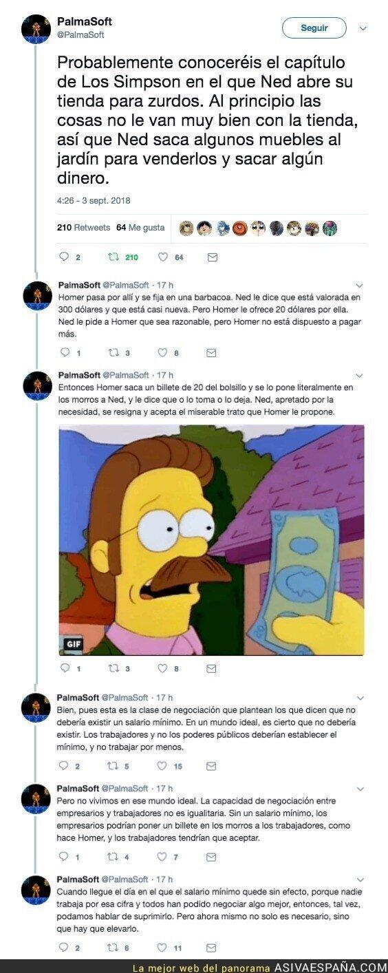 92345 - Explica con un capítulo de los Simpsons la necesidad de un salario mínimo