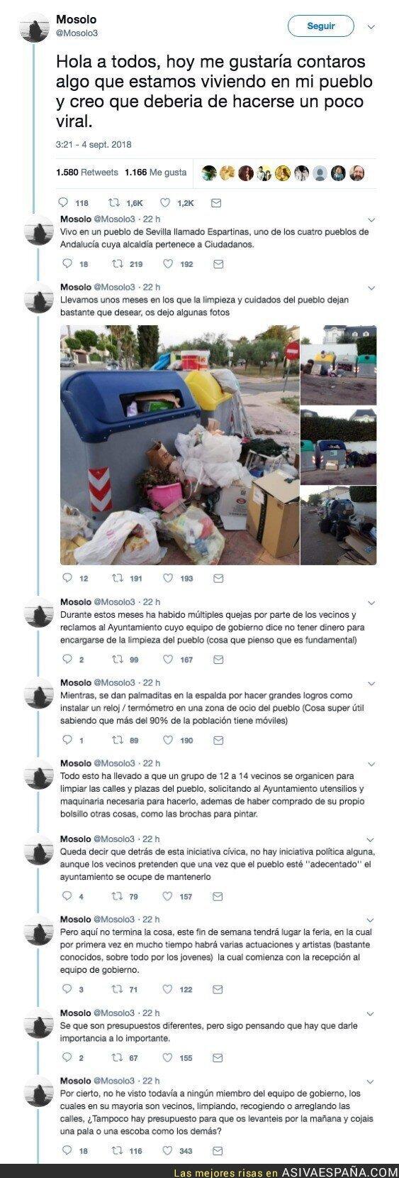 92455 - El caso de Espartinas: un Ayuntamiento de C's que prioriza su feria a recoger la basura