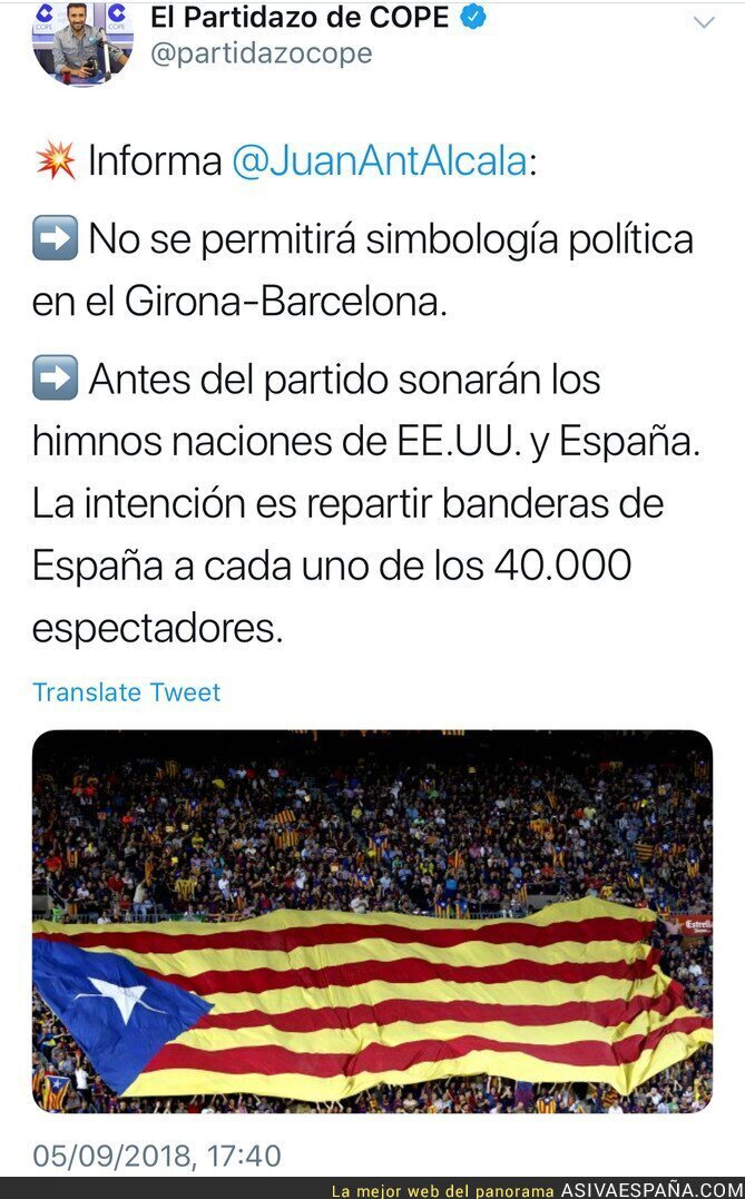 92473 - No se permiten símbolos políticos por eso repartimos 40.000 banderas