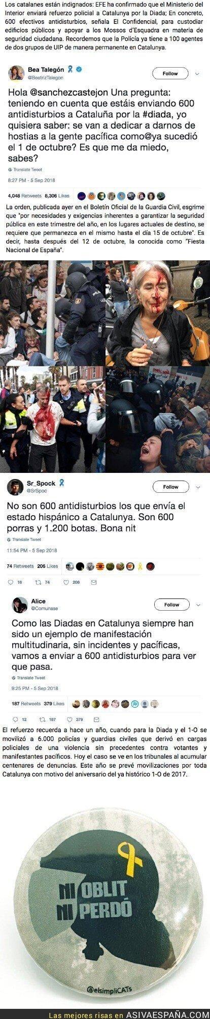 92524 - Interior envía más de 500 antidisturbios a Catalunya por la Diada y suspende traslados