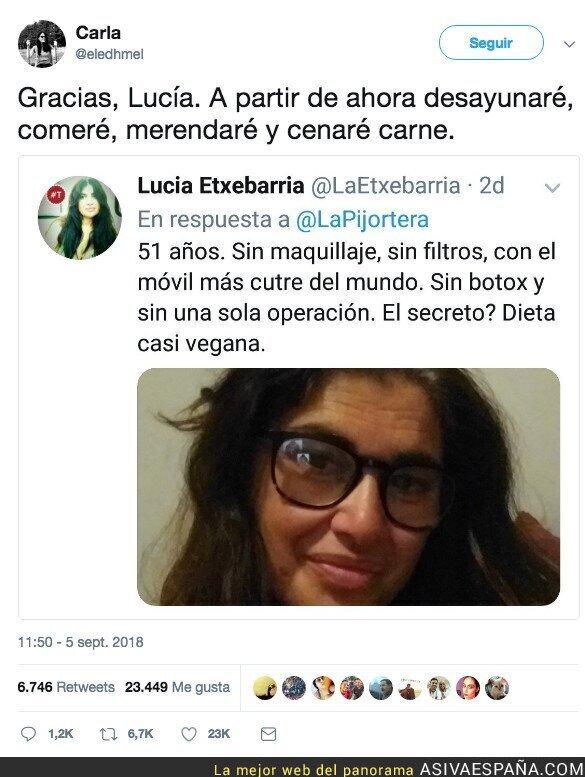92619 - Lucía Etxebarria tiene un secreto: dieta CASI vegana