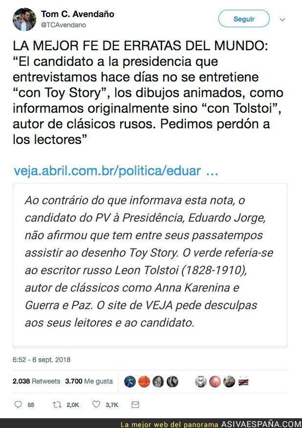 92647 - Este periódico intenta arreglar los hobbies del candidato a la presidencia de Brasil