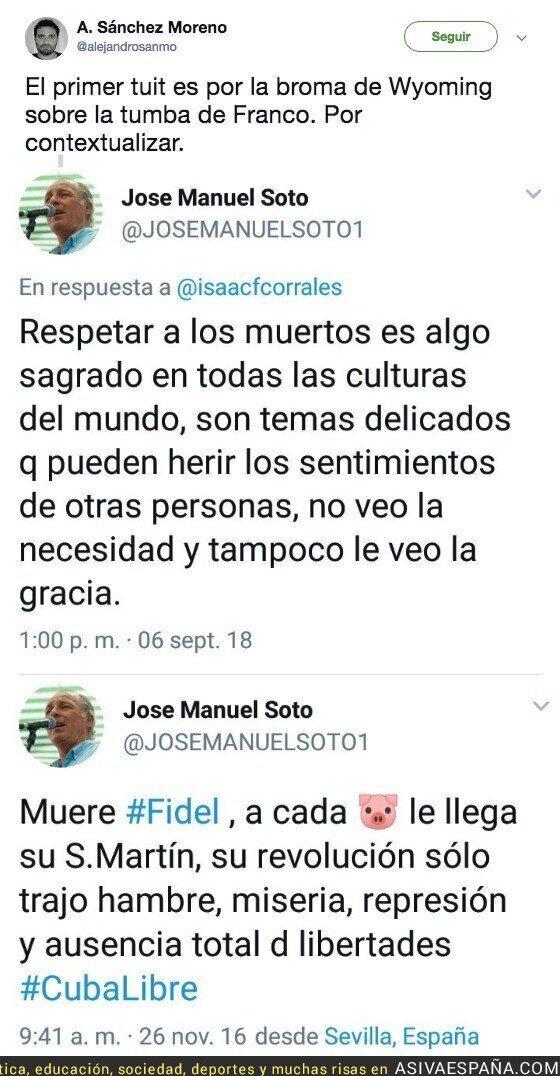 92668 - La doble moral de Jose Manuel Soto a la hora de reírse de los muertos