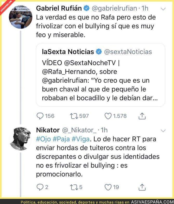92835 - La hipocresía de Gabriel Rufián a la hora de criticar cosas que él hace