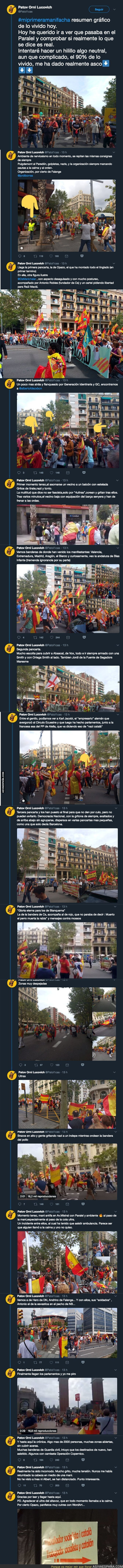 92853 - Viviendo una manifestación facha en Barcelona desde dentro con gran cantidad de material gráfico