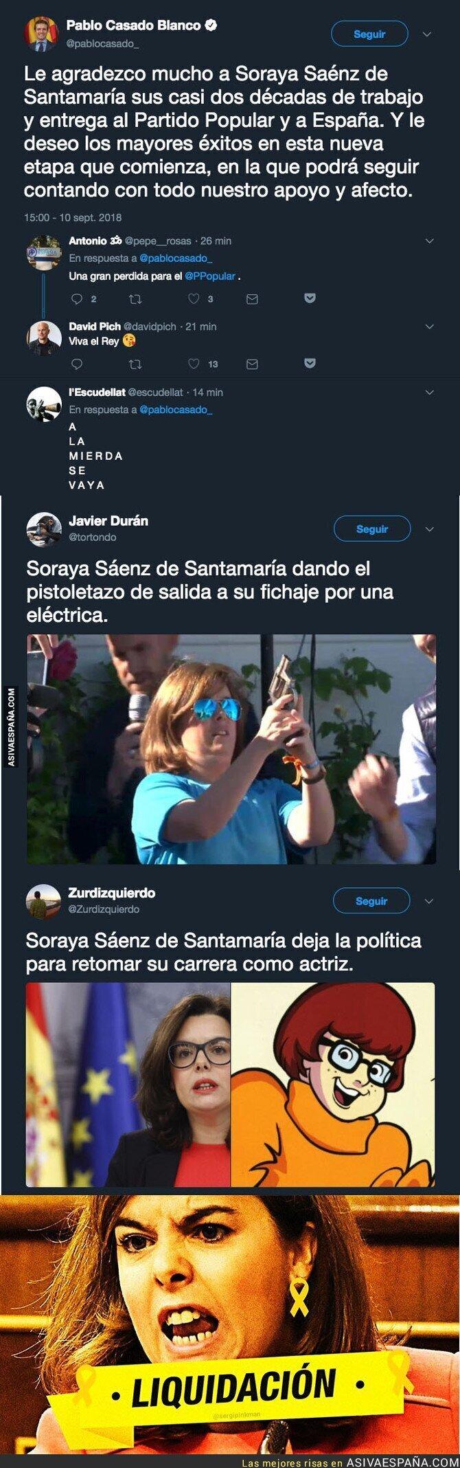 92866 - Soraya Sáenz de Santamaría abandona el PP y la política