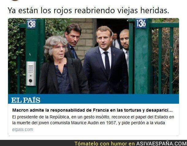 93147 - Macron reabre viejas heridas