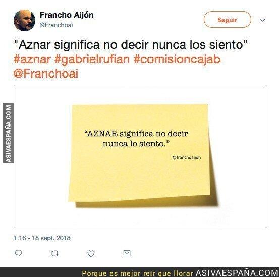 93380 - Aznar nunca pide perdona