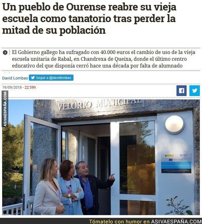 93474 - Sustituir colegios por tanatorios, el futuro de la España rural.