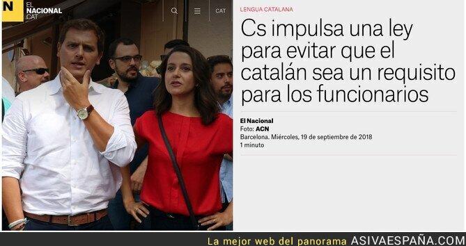 93529 - Ciudadanos pretende eliminar la obligatoriedad del catalán para ser funcionario en Catalunya