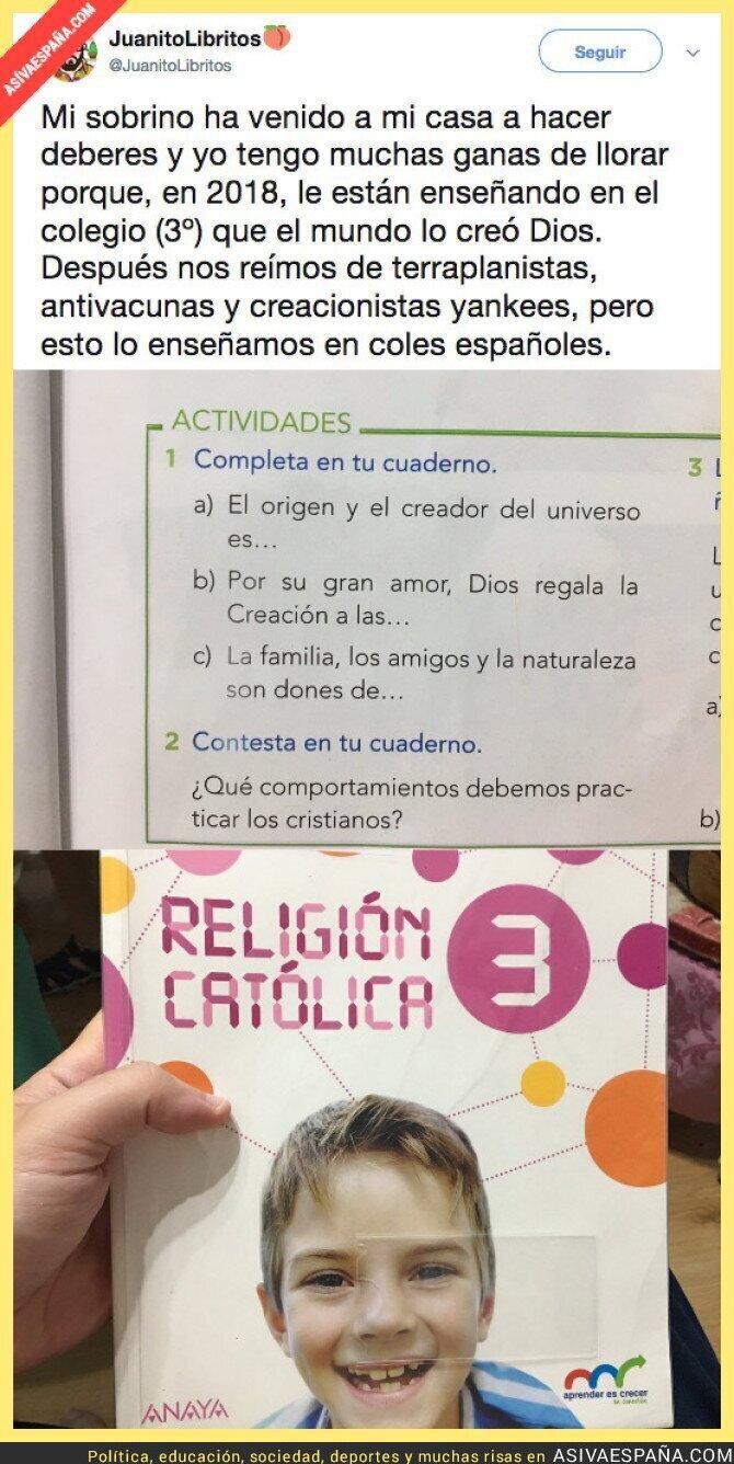 93606 - Cuando en Religión te meten el creacionismo por los ojos