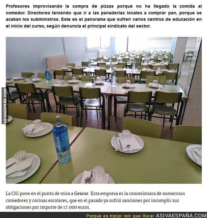 ASÍ VA ESPAÑA ] Varios comedores escolares no reciben comida