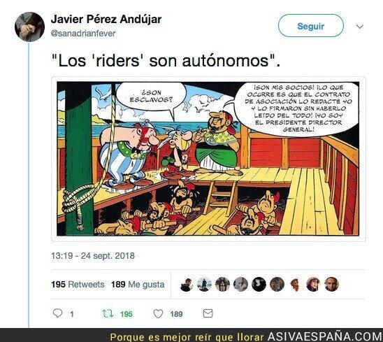 93723 - El cómic de Astérix y Obélix que ya vaticinaba lo que pasaría con los riders de las empresas de comida para llevar