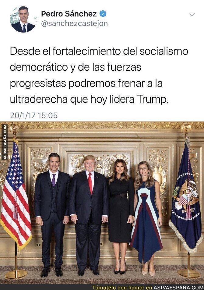 93775 - Pedro Sánchez empieza a frenar a Trump
