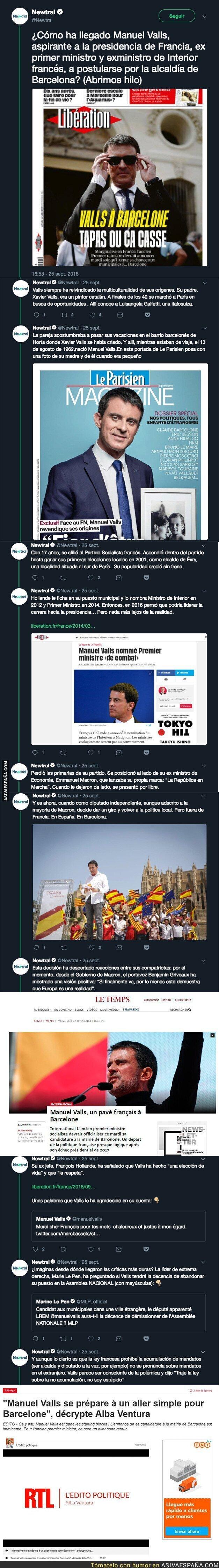 93812 - La historia que no conocías de Manuel Valls, el candidato de Ciudadanos para ser el alcalde de Barcelona