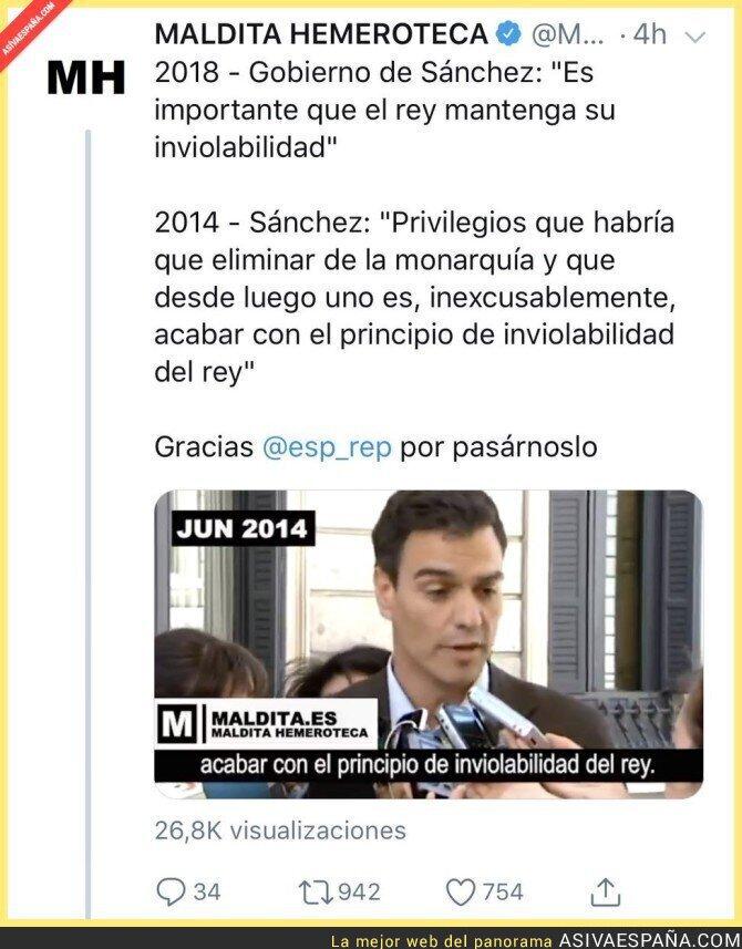93827 - Así cambia de opinión Pedro Sánchez