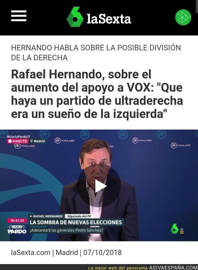 94672 - Para Rafael Hernando la culpa de VOX es de la izquierda