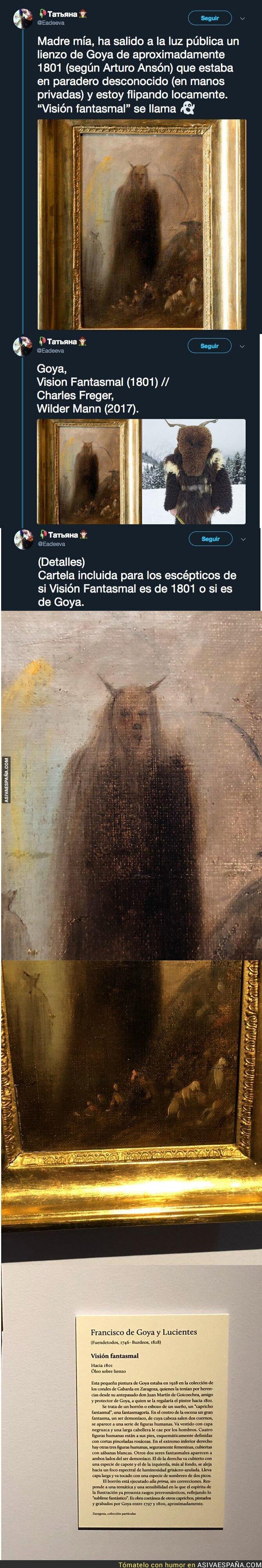 94710 - El lienzo de Goya que ha salido a la luz y que está haciendo tener pesadillas a la gente