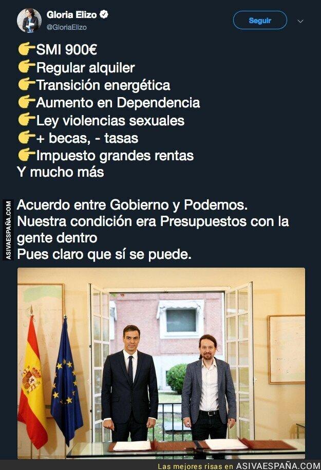 94735 - El gran acuerdo entre el Gobierno y Podemos para los presupuestos generales del Estado