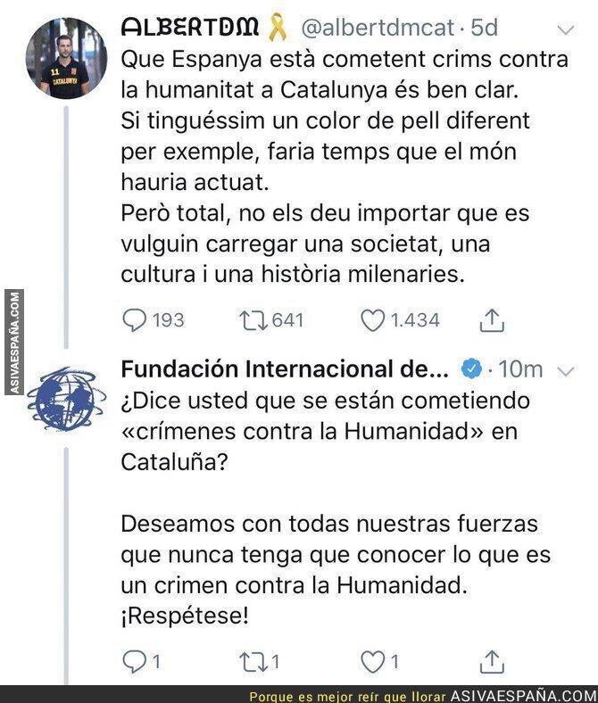 94836 - 'Fundación Internacional de Derechos Humanos' se rebela ante el independentismo catalán