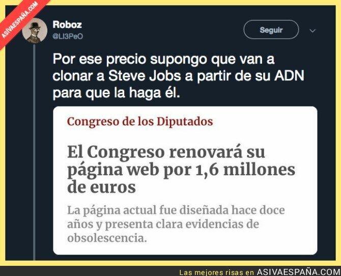 95006 - El polémico precio de la nueva web del Congreso