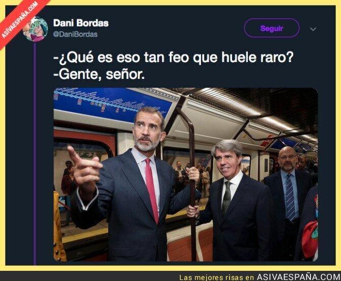95209 - La visita del Rey Felipe VI al metro