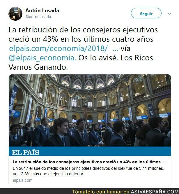 95232 - El SMI* sensato. (*Salario Máximo del IBEX)