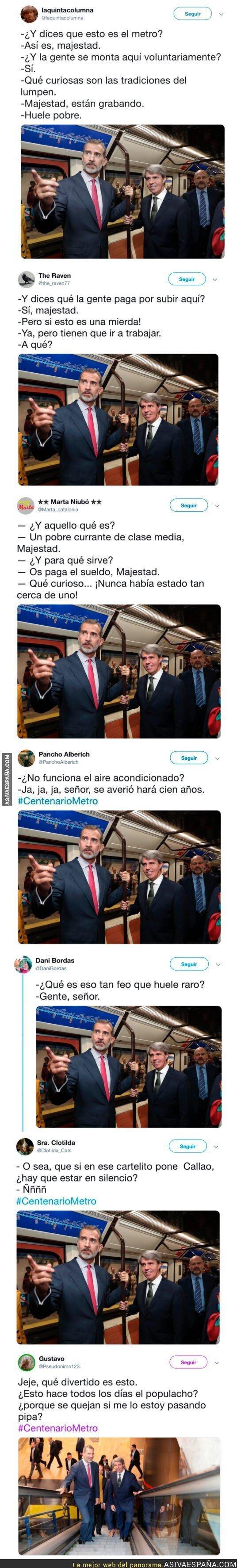 95348 - El Rey Felipe VI se sube al metro y Twitter se llena de memes