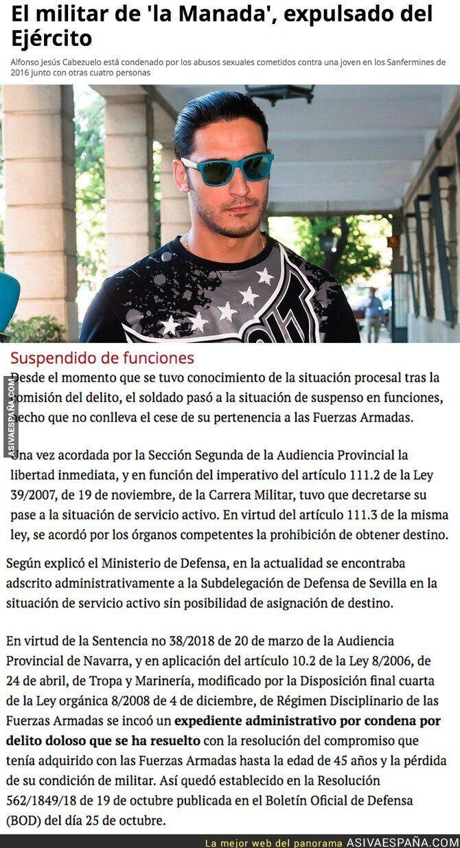 95903 - Primera vez que se hace justicia contra uno de los miembros de La Manada