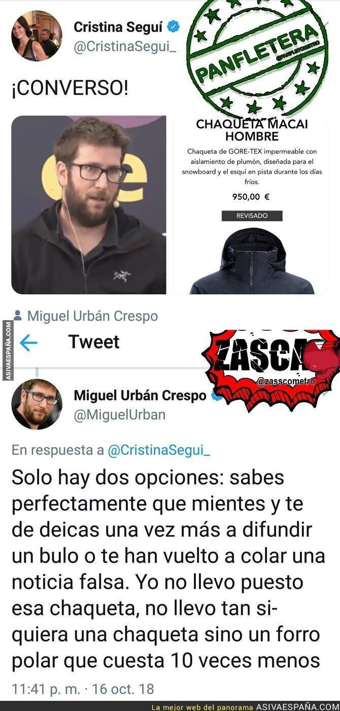 95907 - Cristina Seguí intentando manipular contra Miguel Urbán de forma lamentable y patética