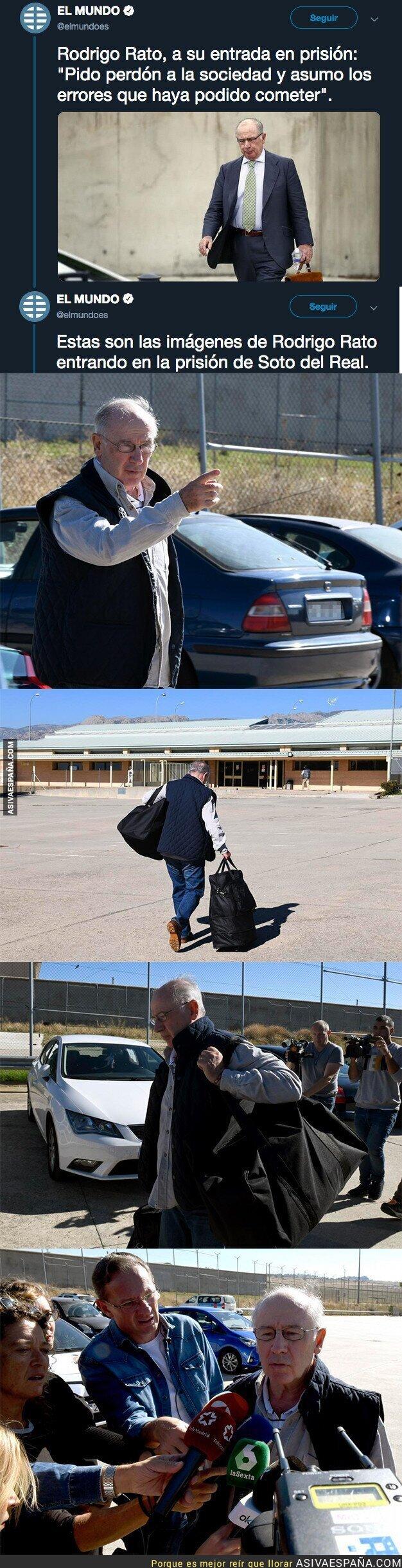 95946 - Las imágenes de Rodrigo Rato entrando a la prisión de Soto del Real