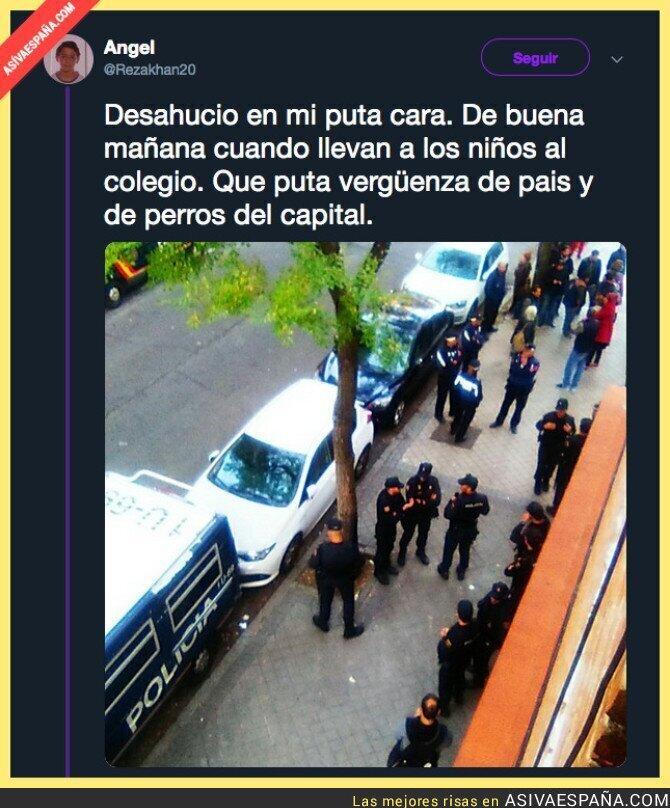 96010 - Menudo despliegue policial para echar a una familia de su casa