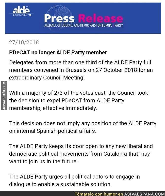 96294 - ALDE expulsa al PDeCat