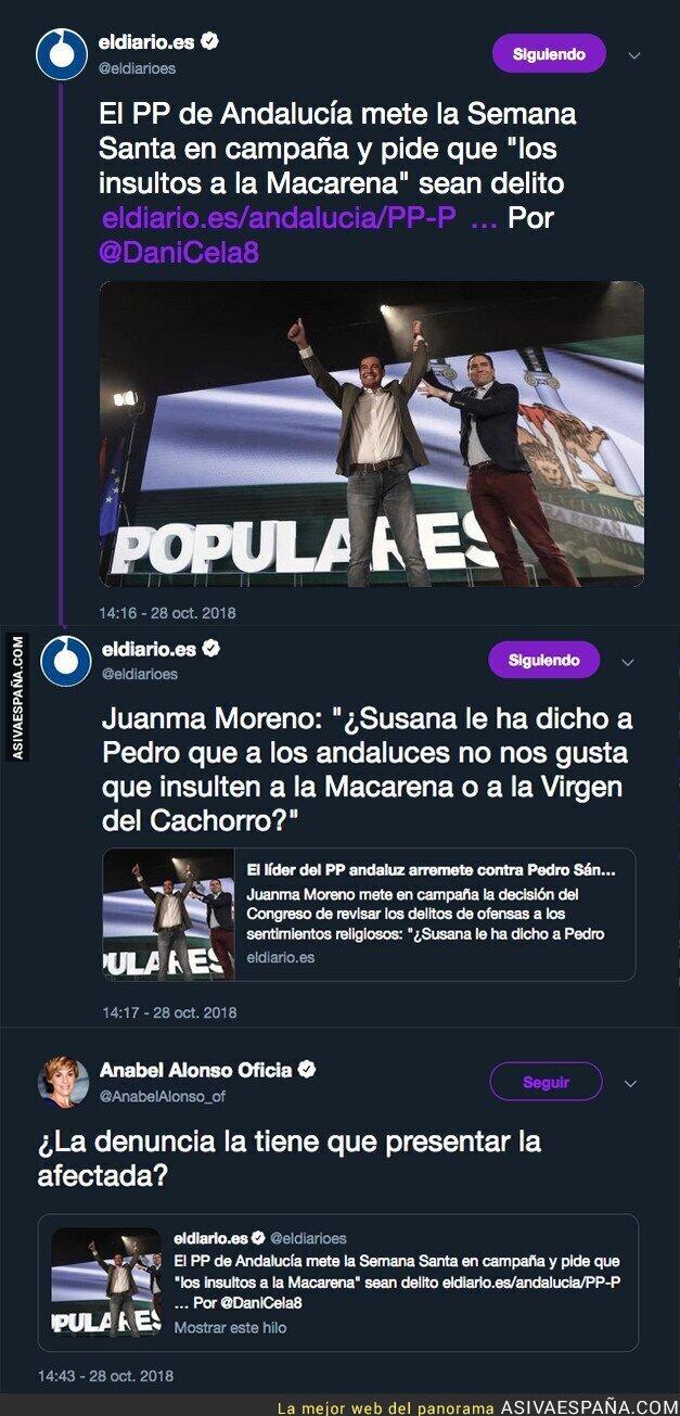 96380 - El PP de Andalucía pide que sea delito los insultos a la Macarena y Anabel Alonso responde de forma genial