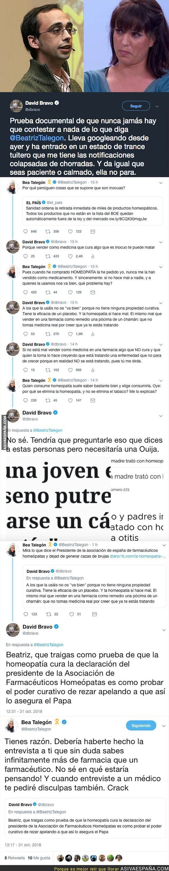 96613 - David Bravo se enzarda con Beatriz Talegón por los 'medicamentos' homeopáticos y ella no deja de hacer el ridículo