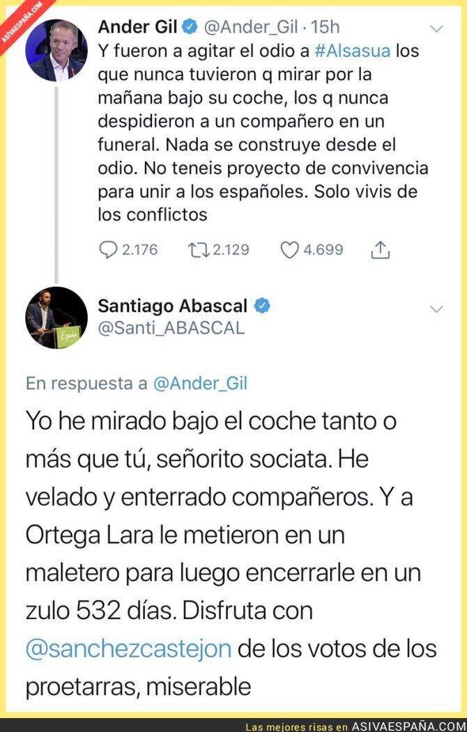 97119 - Una lección de Santiago Abascal al portavoz del PSOE en el Senado