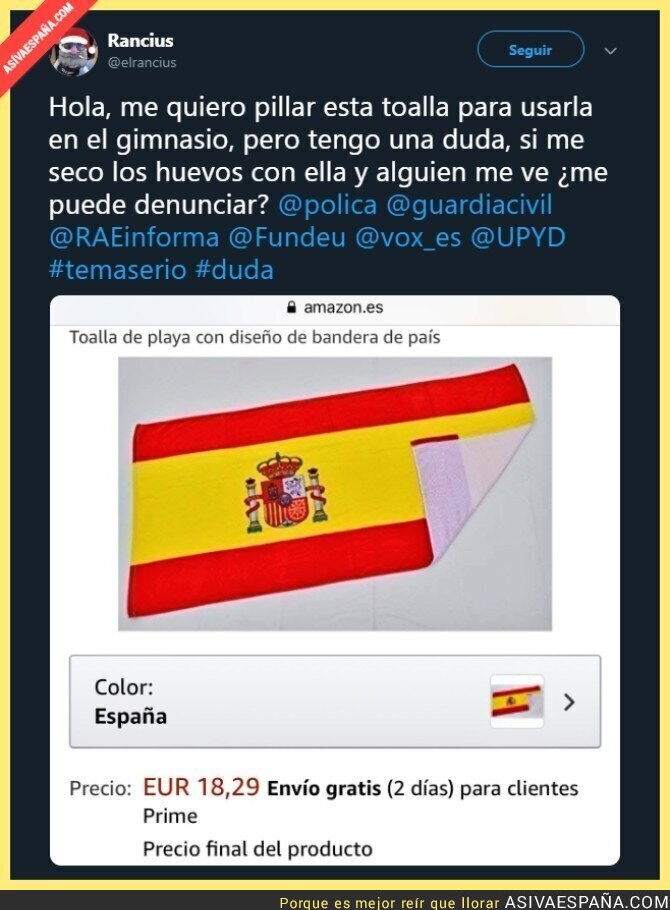 97192 - Cuidado con el uso que le dais a la bandera de España