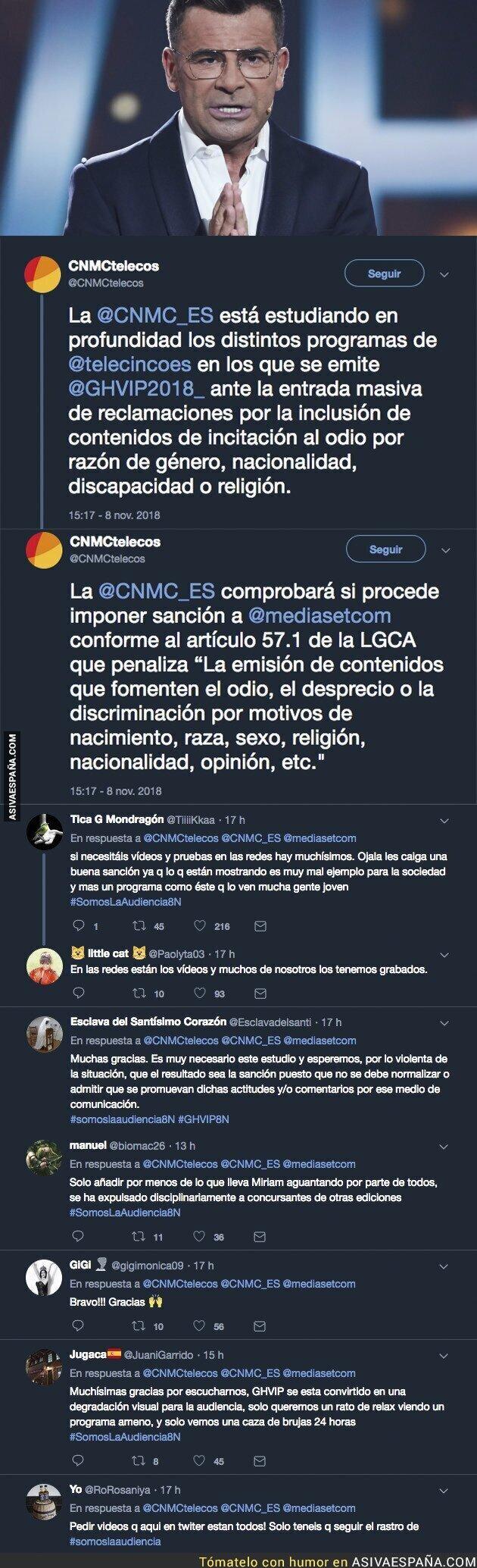 97493 - La CNMC estudia sancionar a Telecinco tras todos estos comentarios en GH VIP