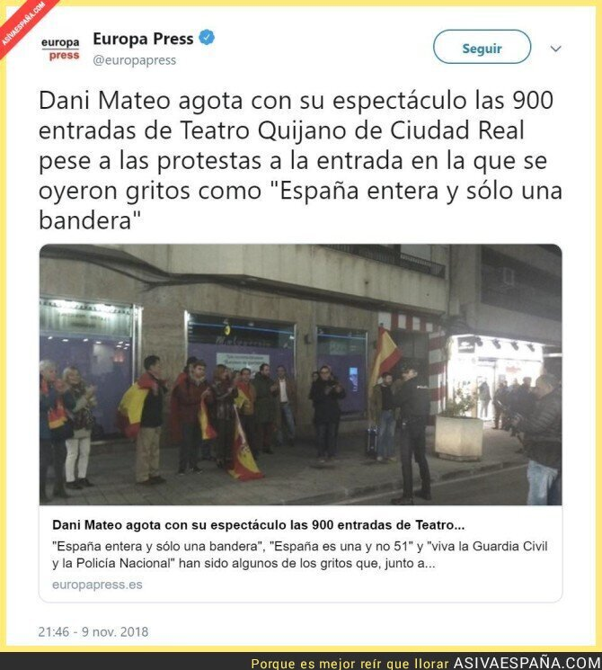 97646 - Los que protestaban era la primera vez que veían un teatro tan de cerca