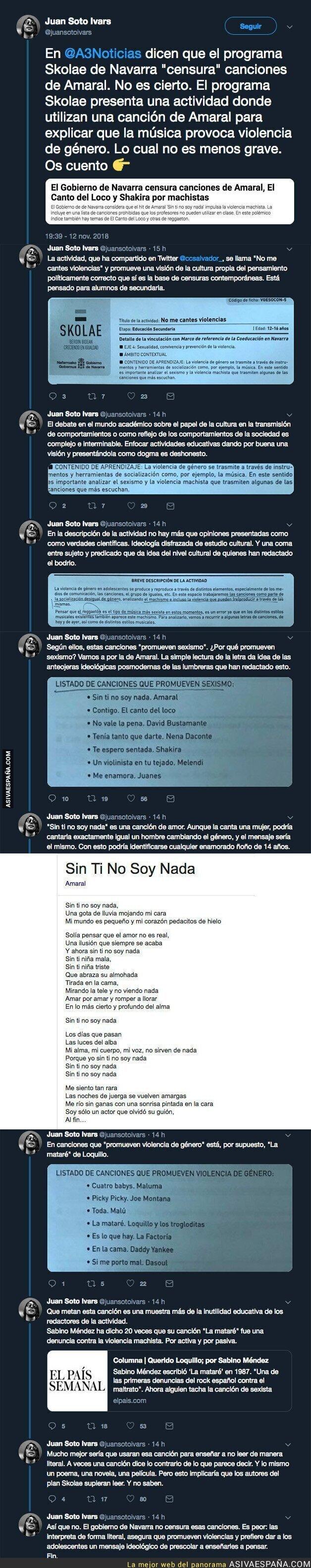 97853 - ¿Censura canciones el Gobierno de Navarra? Esta es la explicación