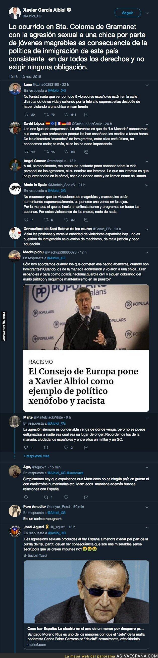 97918 - El lamentable tuit de Xavier García Albiol sobre los violadores de Sta. Coloma de Gramanet
