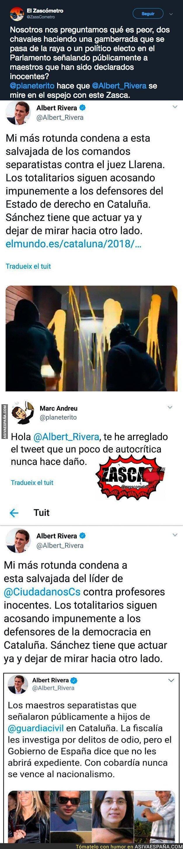 98031 - Albert Rivera tiene mucho que aprender de sus palabras señalando a la gente
