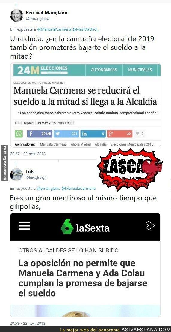 98718 - Percival Manglano tiene una duda sobre Manuela Carmena y le responden con datos