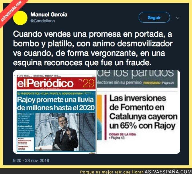 98721 - La lluvia de millones a Catalunya por parte de Rajoy fue una estafa