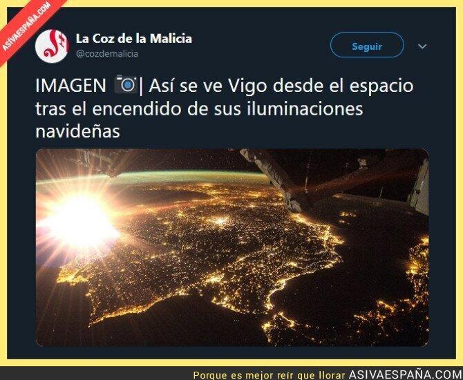 98813 - Las luces de Vigo desde el espacio